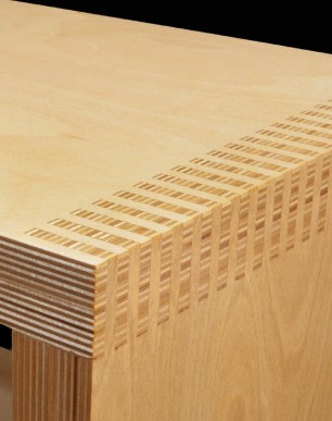 Box Joint Shoe Bench Detail - © Chris Bozzelli, RA