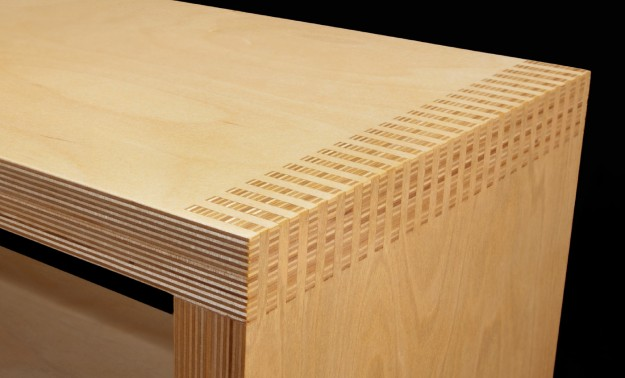Box Joint Shoe bench Detail
