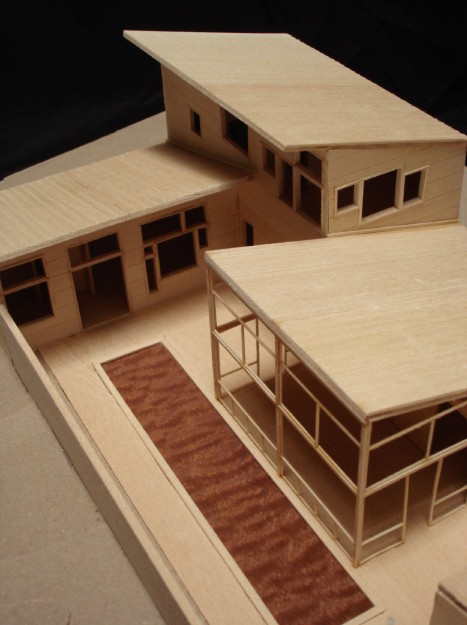 Deck House Model Detail - © Chris Bozzelli, RA