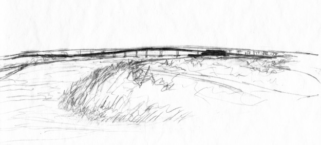 Estuary sketch © Chris Bozzelli, RA
