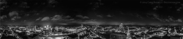 Durham Skyline Large BW